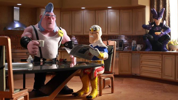 Still from  SuperMansion,  Image courtesy of Animation Magazine