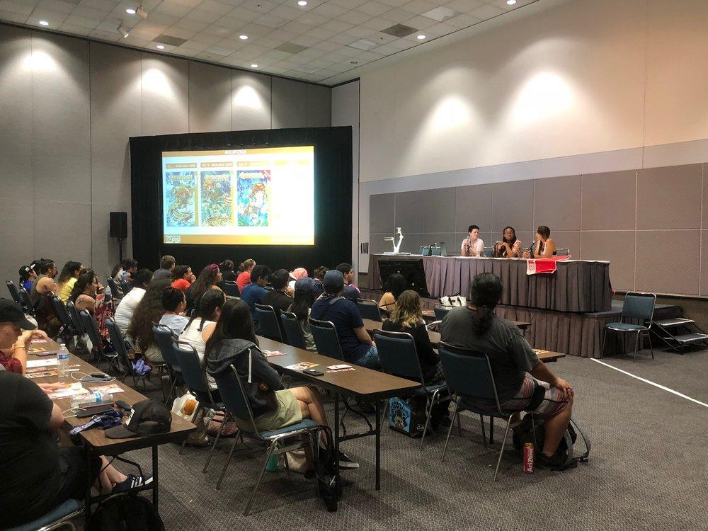 Speaking at the International Women of Manga panel at Anime Expo