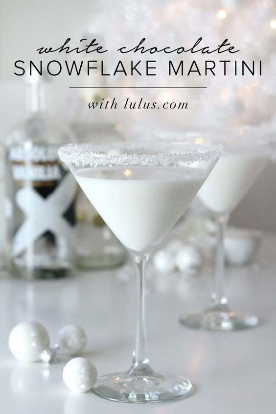 White Chocolate Snowflake Martini Source: blog.lulus.com