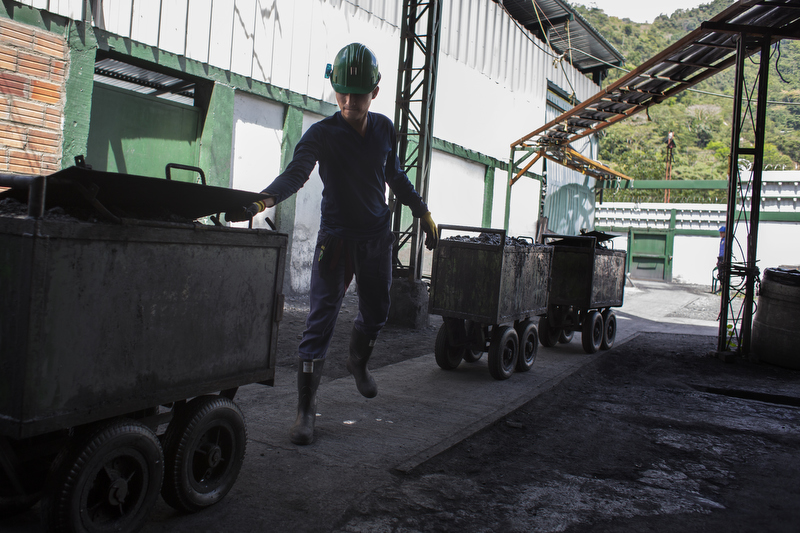 Ore and waste rock are brought to the surface from the Puerto Arturo mine in Muzo, Colombia. The cost of the finest Colombian emeralds can reach USD $10,000 per carat, and even up to USD $50,000 per carat.