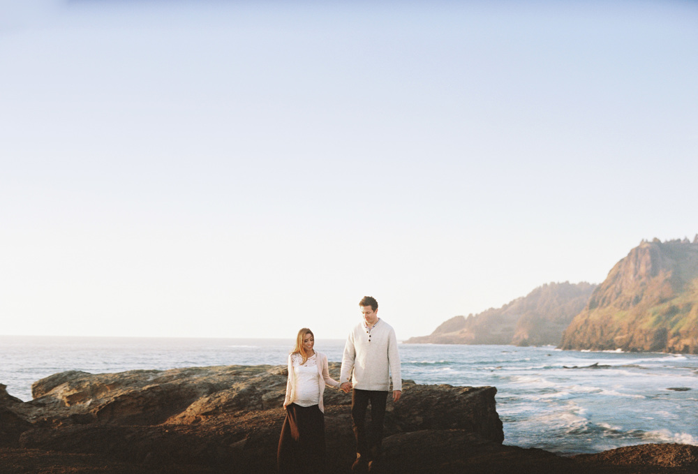 017Devils Punch Bowl + Coast Best Engagement Shoot Location+ Oregon + Film Photography © OutiveCreative.jpg