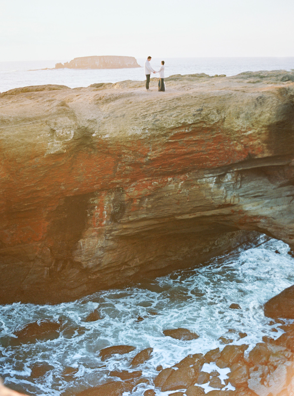 018Devils Punch Bowl + Coast Best Engagement Shoot Location+ Oregon + Film Photography © OutiveCreative.jpg