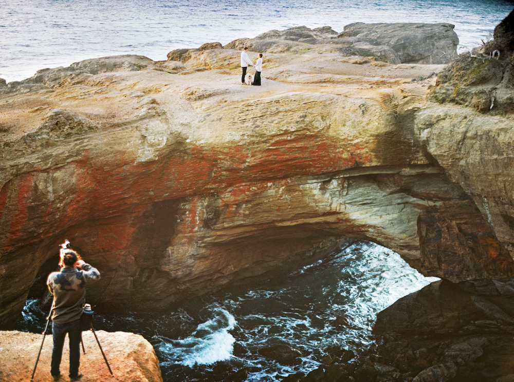 020Devils Punch Bowl + Coast Best Engagement Shoot Location+ Oregon + Film Photography © OutiveCreative.jpg