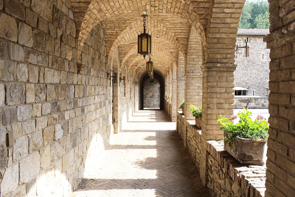 Portico Castello Di Amorosa Castle Napa Valley
