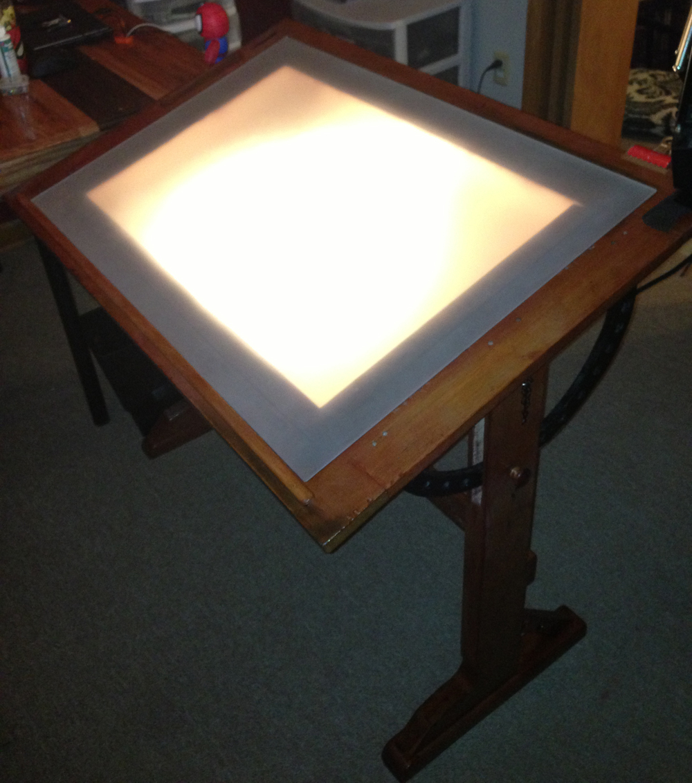 72  for Drawing Table With Light  193tgx