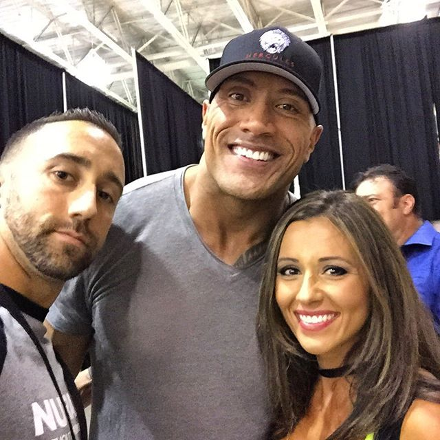 When you finallyyyyyy meet @therock #nutrabio #therock #WithoutCompromise