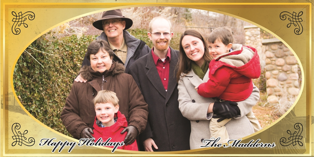 Front of our Silver Bell Express Holiday Card.