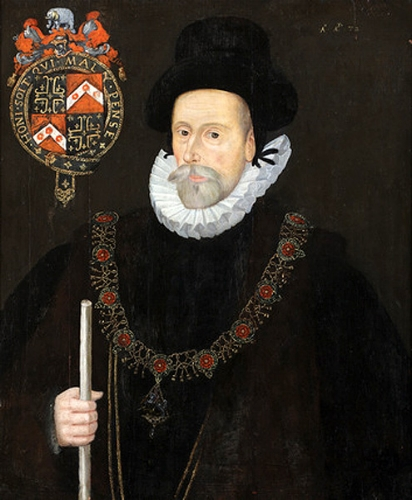 Sir Francis Knollys, unknown artist, currently hanging at Greys Court, near Reading.