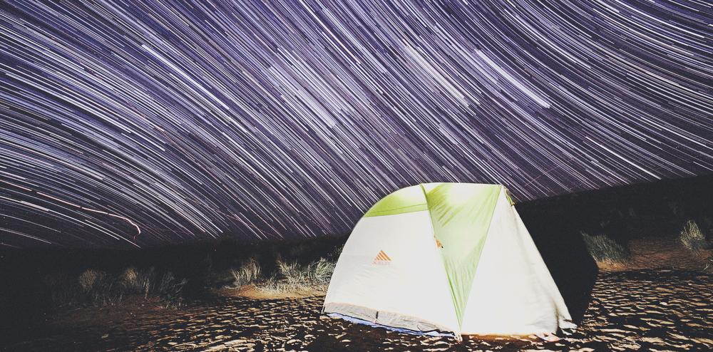 Desert camping in Page, Arizona.
