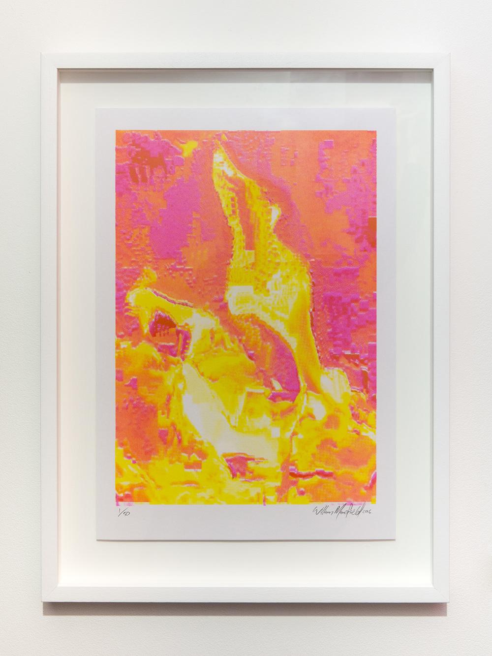 Inferno    (2/50)    William Mansfield    four colour risograph print   53.5 × 39.5 cm   (framed)
