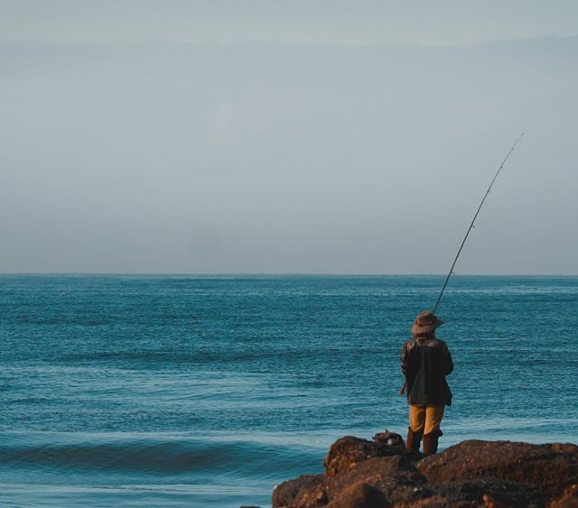 Fisherman scoping out the surf this morning. Stoked for winter swells