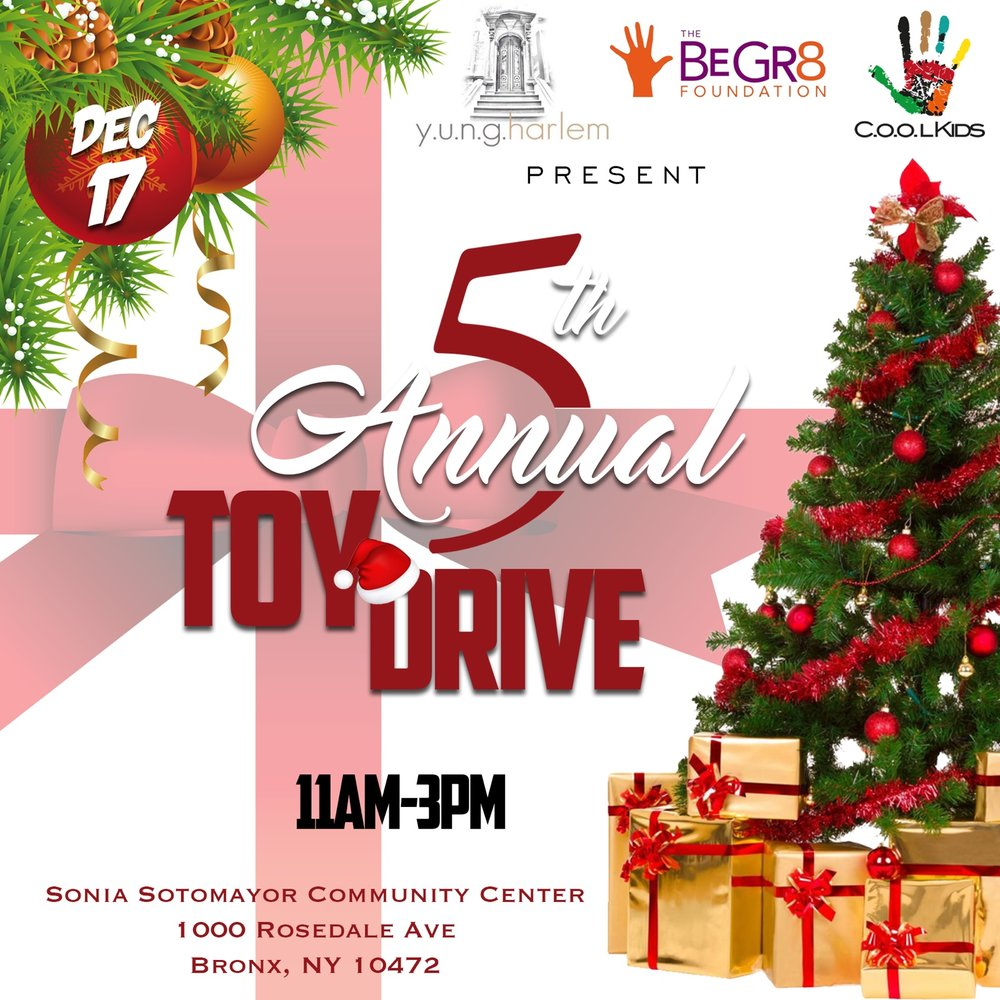 It's that time again this year for Y.U.N.G HARLEM's 5th Annual toy drive! 🏀🎮🎰🚲