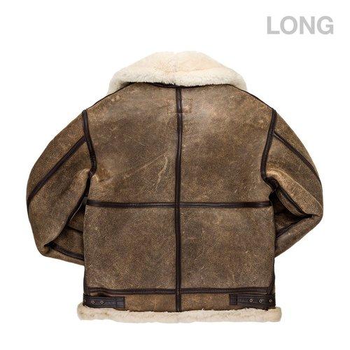 68169597 B-3 Hooded Sheepskin Bomber Jacket — Fresh Baked