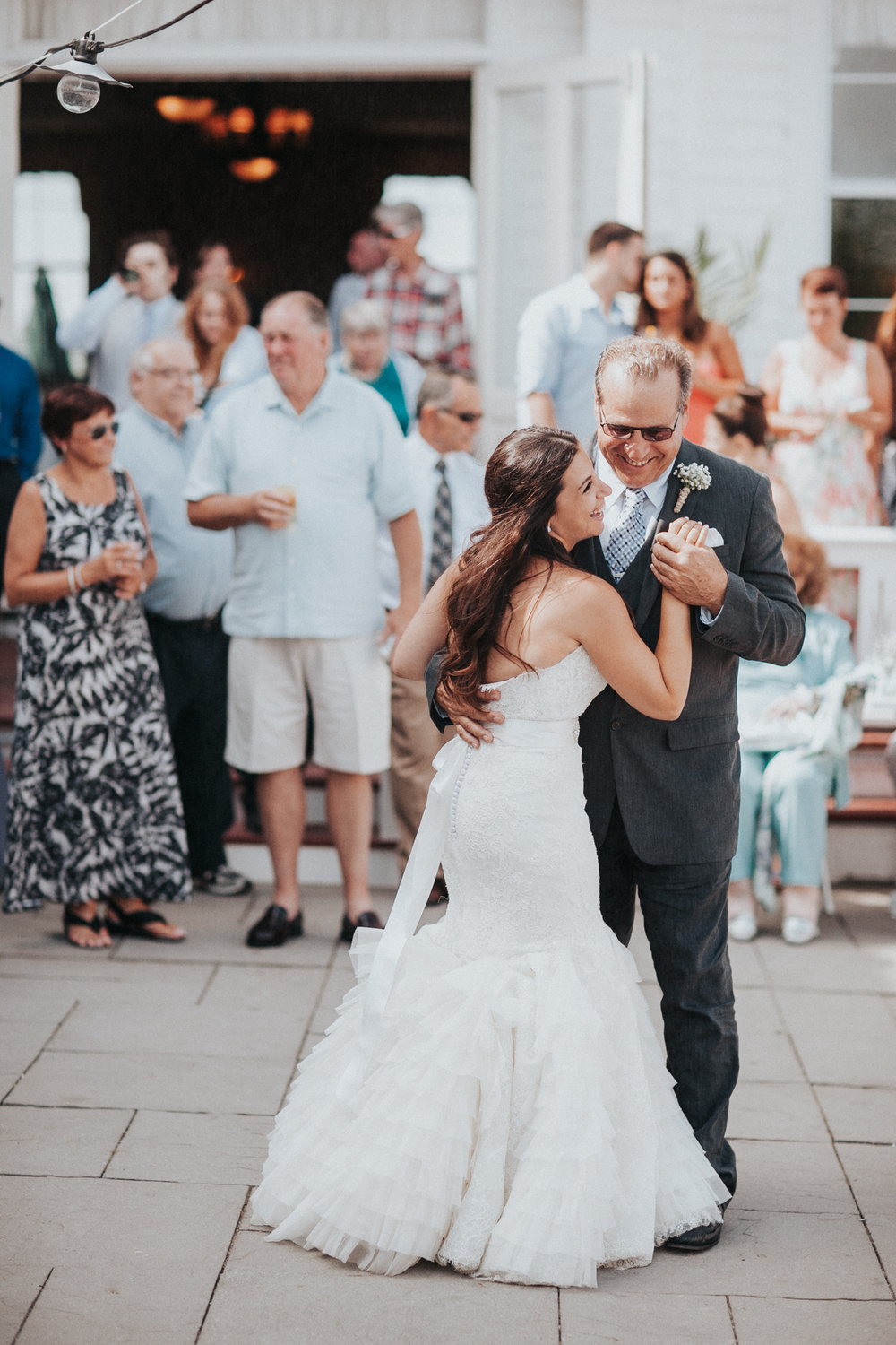 The bride dancing with her father as the reception opens