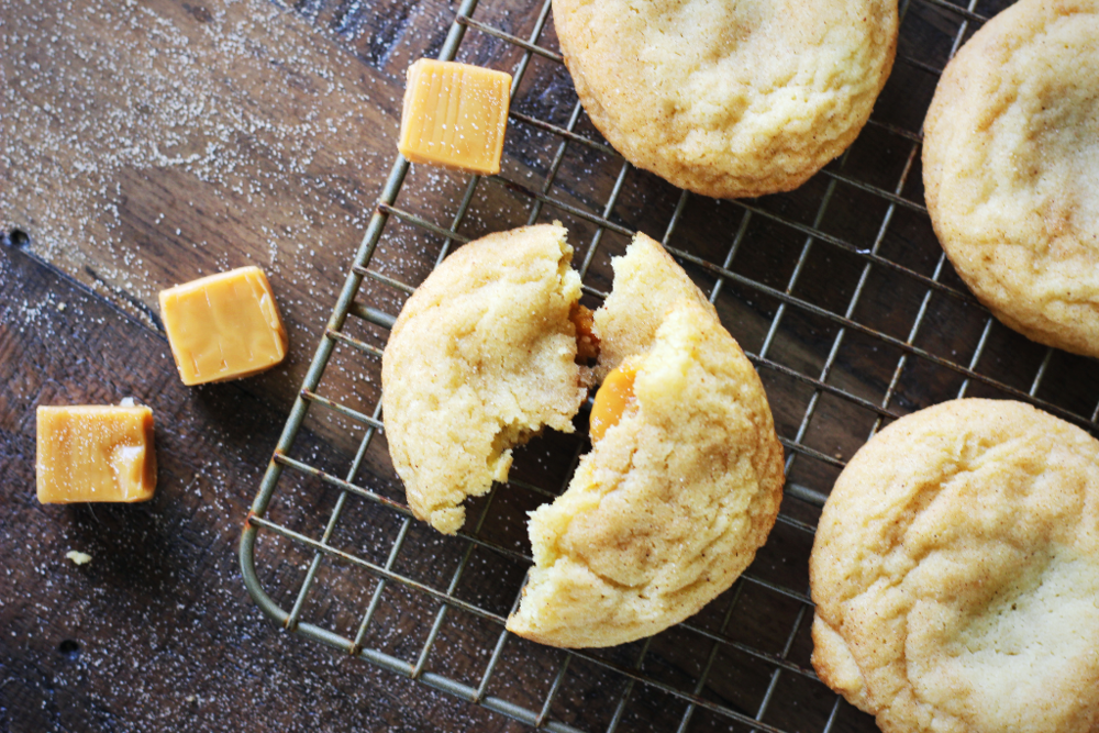 Snickerdoodle Caramel Cookies