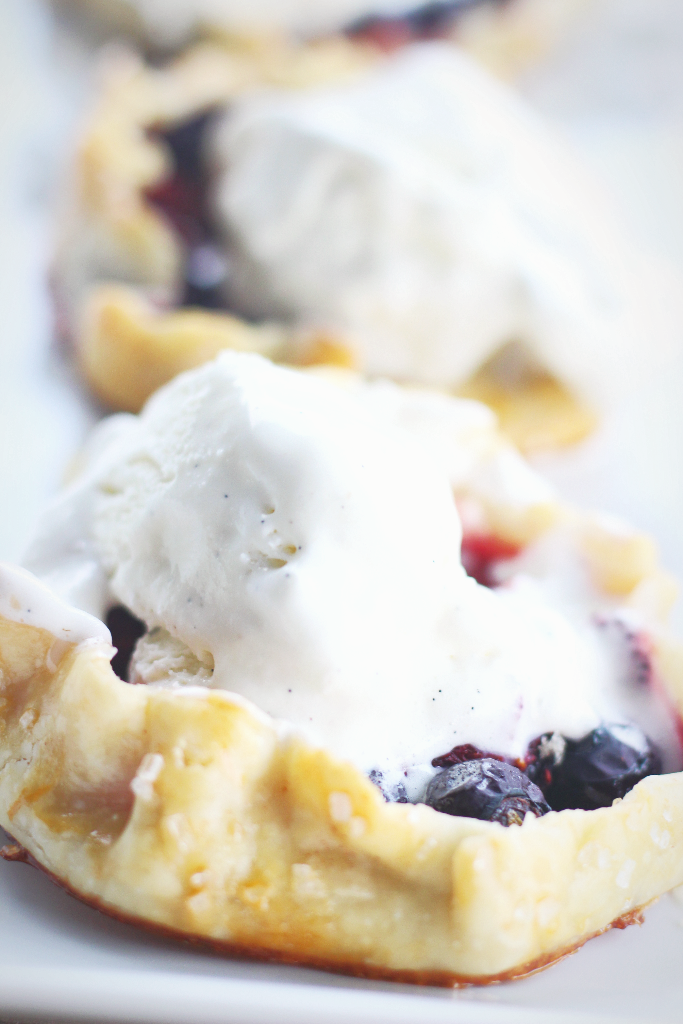Warm and melty Vanilla ice cream. Yep, that'll work.