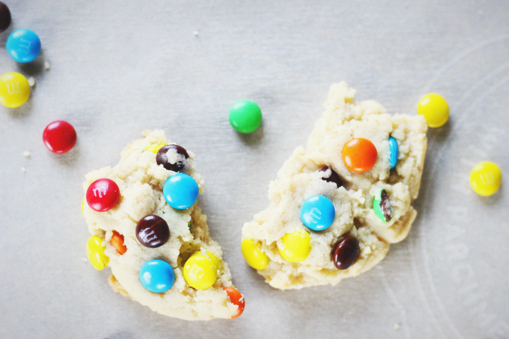Super soft m&m cookies