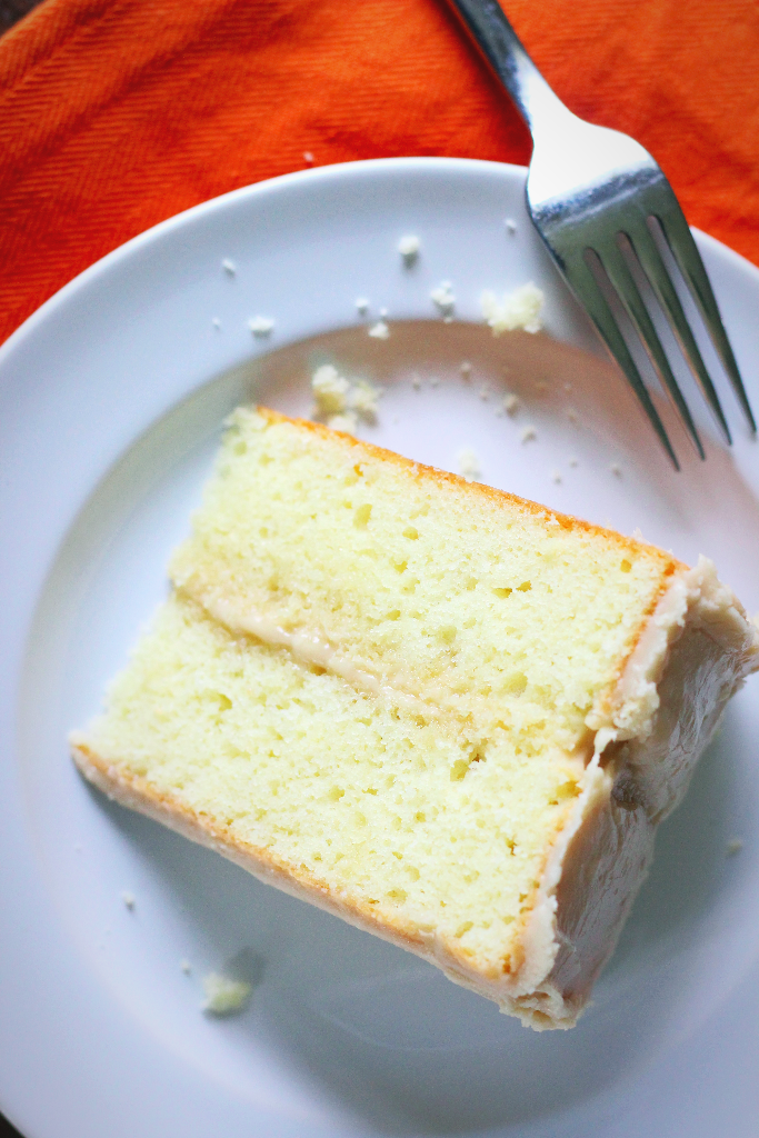 Sour Cream Cake with Caramel Frosting