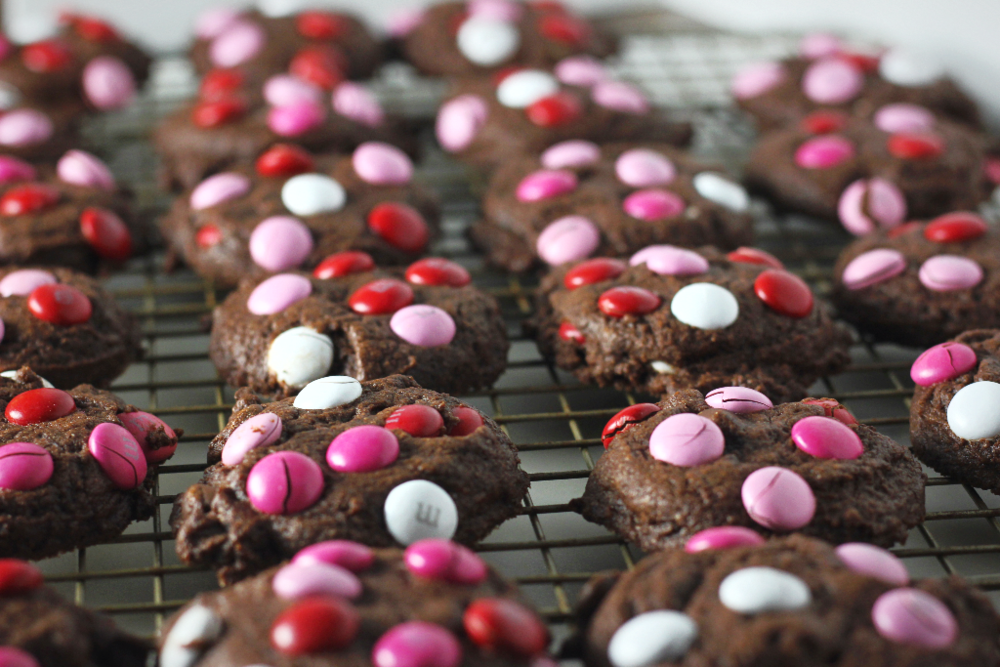 Fudgy M&M Brownie Cookies