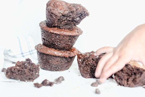 Skinny Chocolate PB Muffins