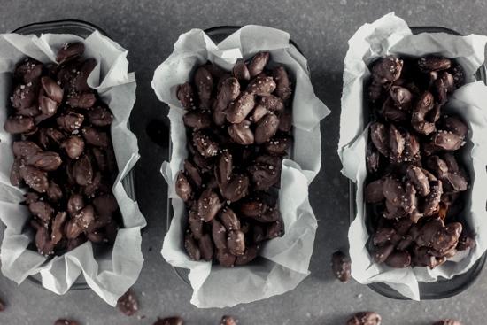 Dark Chocolate Almond Clusters with Sea Salt