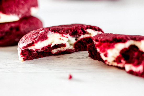 Red Velvet Stuffed Cookies