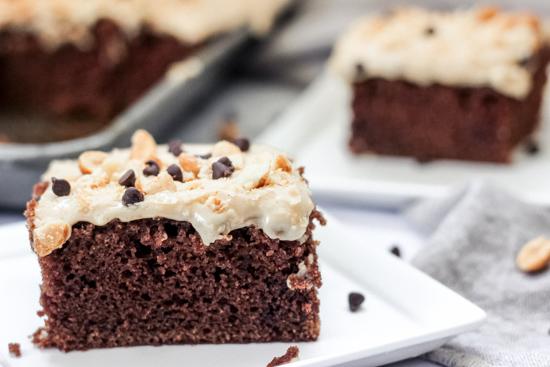 Peanut Butter Chocolate Sheet Cake