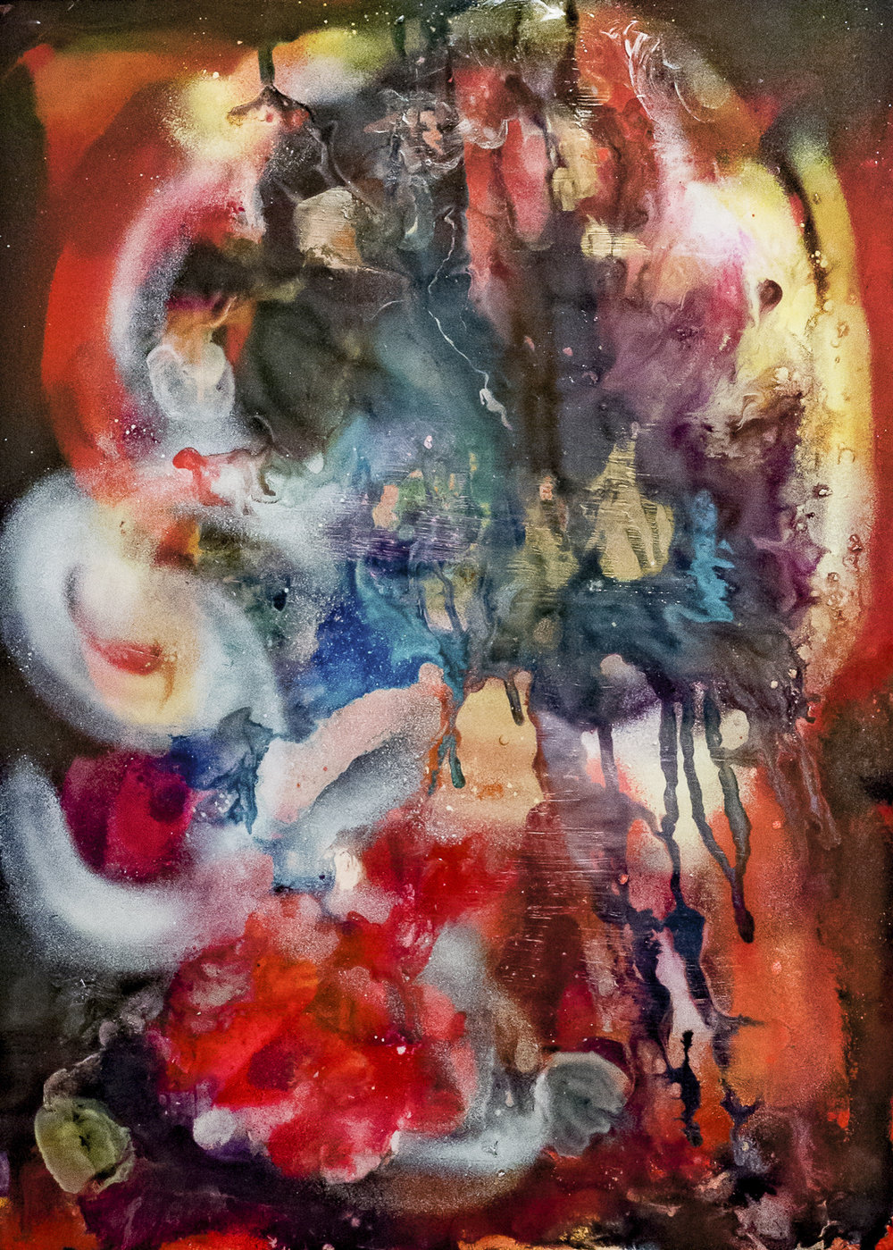 The Moon laughed at my folly, acrylic/mixed media, print 55 x 82cm.