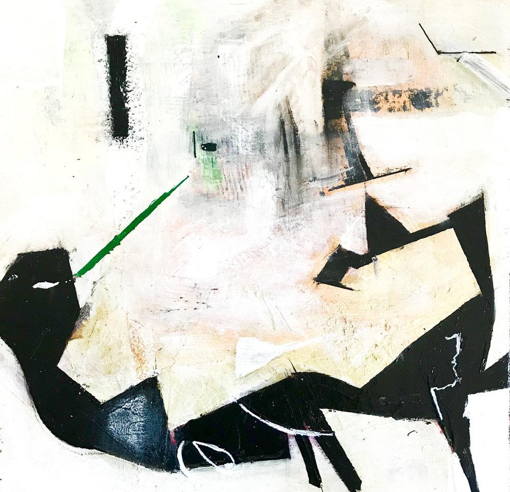 Untitled 4, acrylic mixed media, 30.48x30.48 cm