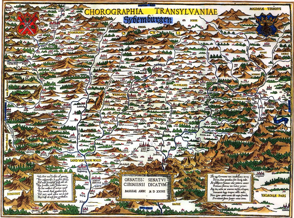 Johannes Honterus - Chorographia Transylvaniae (1532)