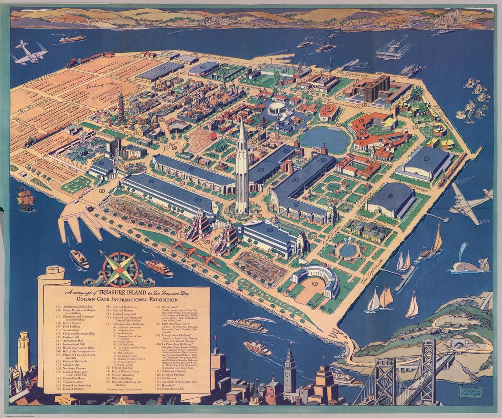 A cartograph of Treasure Island in San Francisco Bay