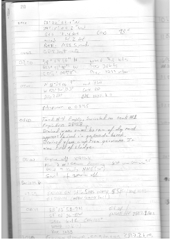 Page from the Schaunard logbook, June 25, 2002.