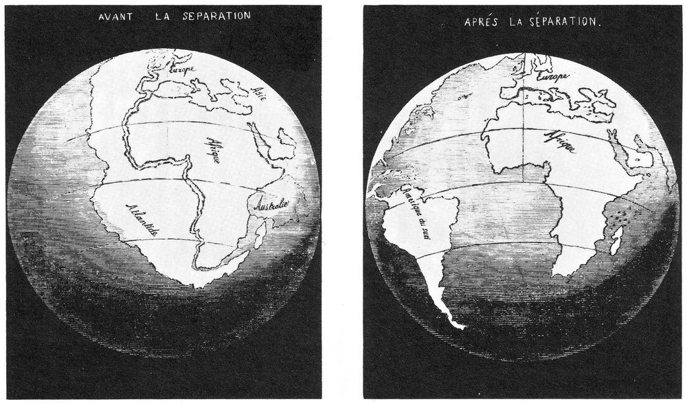 First known illustration of the Opening of the Atlantic Ocean