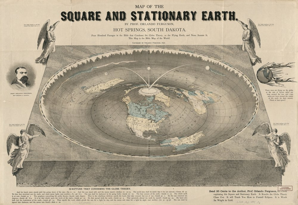 Map of the Square and Stationary Earth.