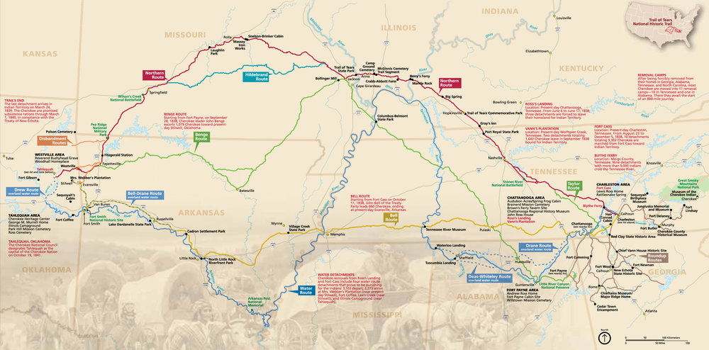 The Trail of Tears, Official Map