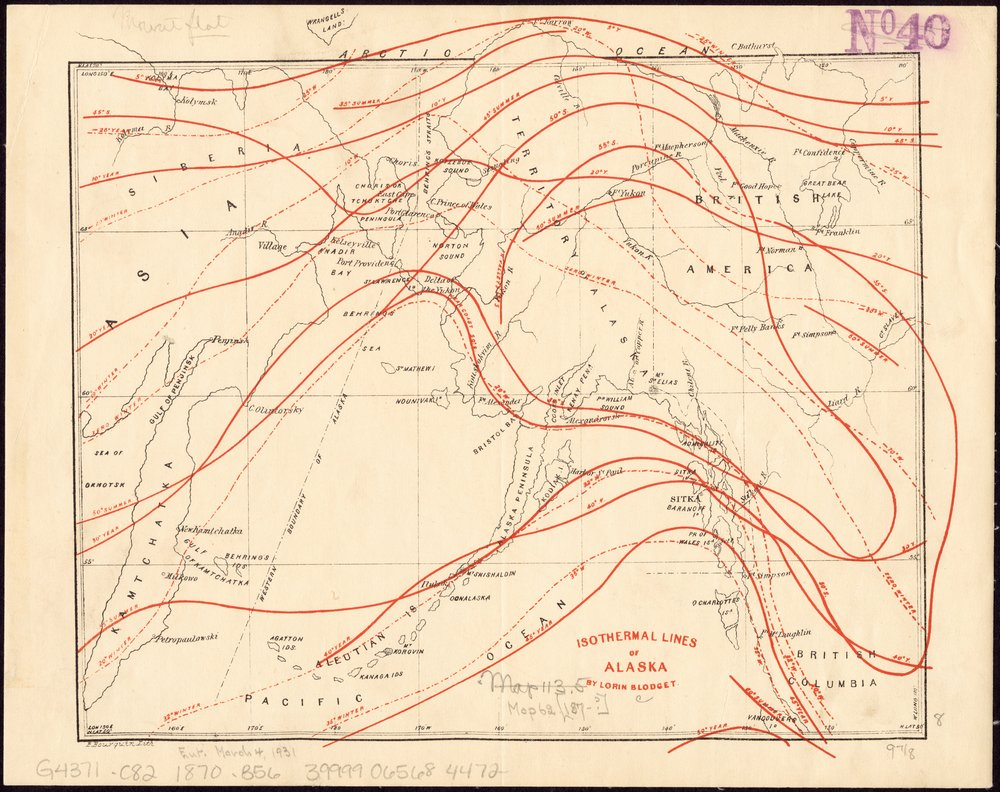 Isothermal Lines of Alaska