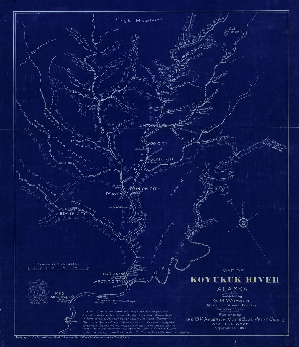 Map of Koyukuk River, Alaska