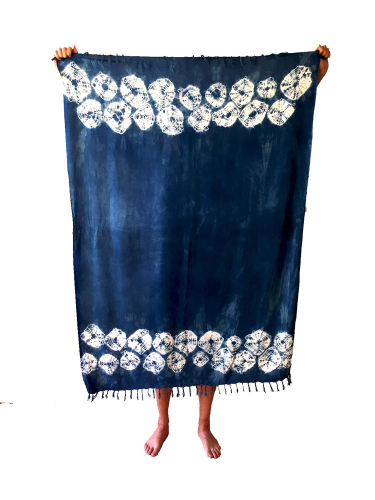 Uluwatu Shibori Throw, $40