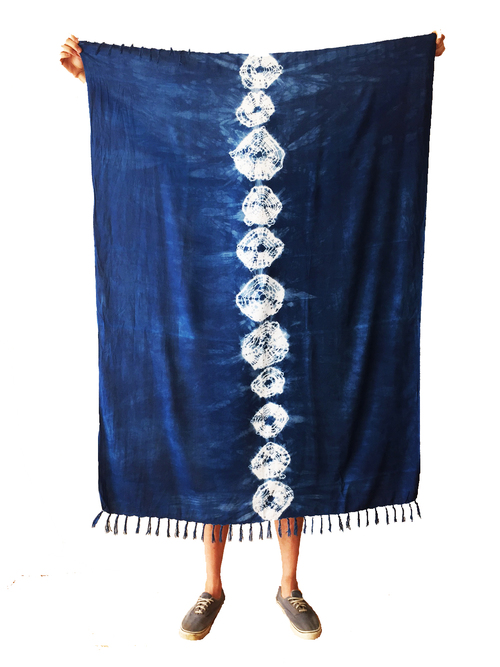 Ubud Shibori Throw, $40