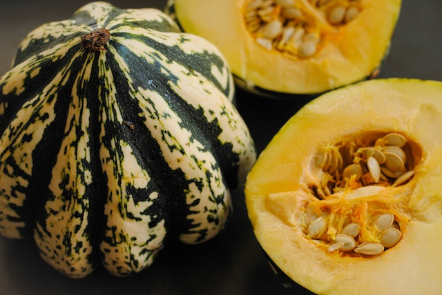Sweet Dumpling Squash: My new favorite. It's like a delicata but more savory and buttery!