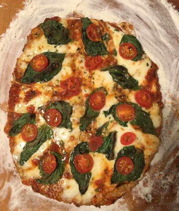 The whole Pizza, fresh from the oven and ready to devour!
