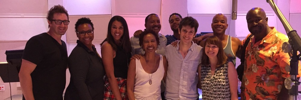 Recording The Lion Guard, Return of the Roar at East West Studios for Disney Jr. with David Loucks, Toni Scruggs, Clydene Jackson, Oren Waters, Taylor Graves, Christopher Willis, Elyse Willis, Tonoccus McClain, and Alvin Chea.