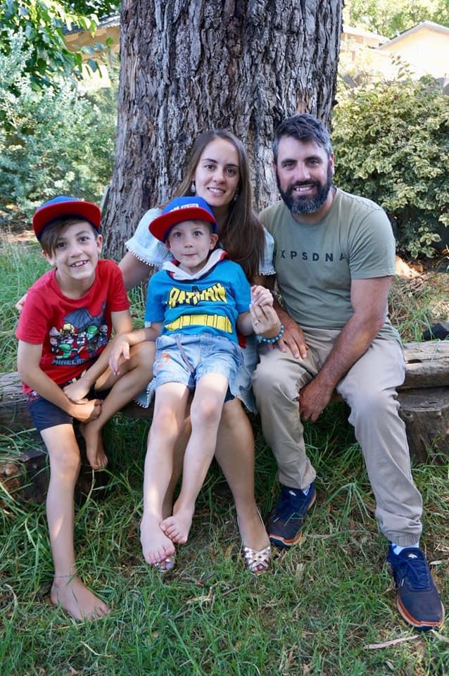 Gavin, Alana and their two boys Gabe & Jamie