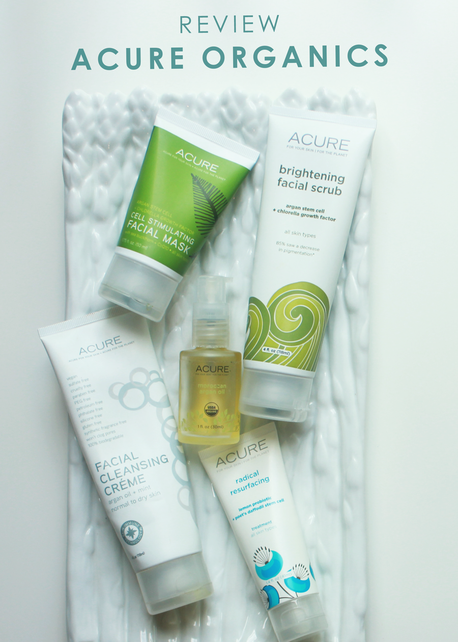 Acure Organics Skincare Review. Vegan
