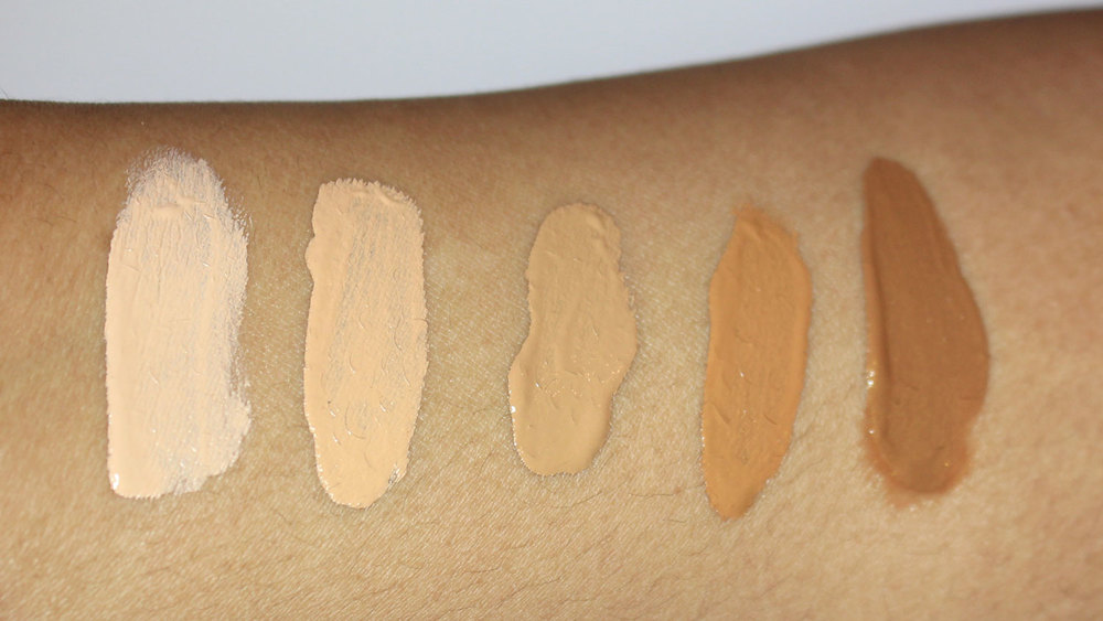 L-R: Light , Medium, Tan, Dark, Deep.