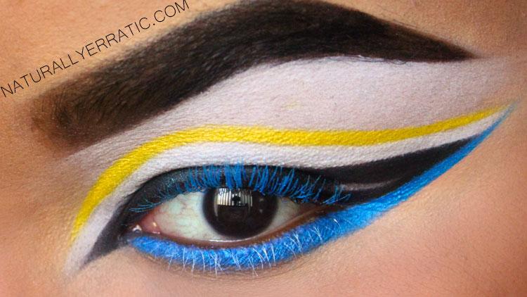 Neon Makeup, Blue Mascara