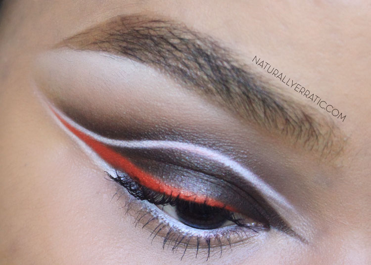 Graphic eye makeup