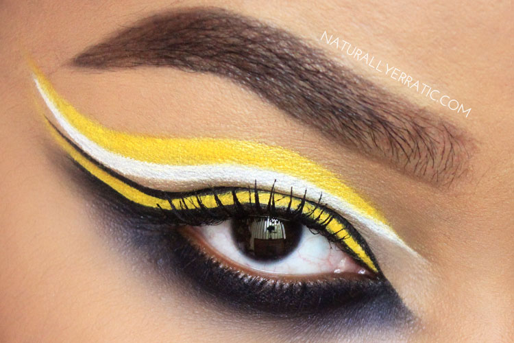 Yellow and Black Makeup