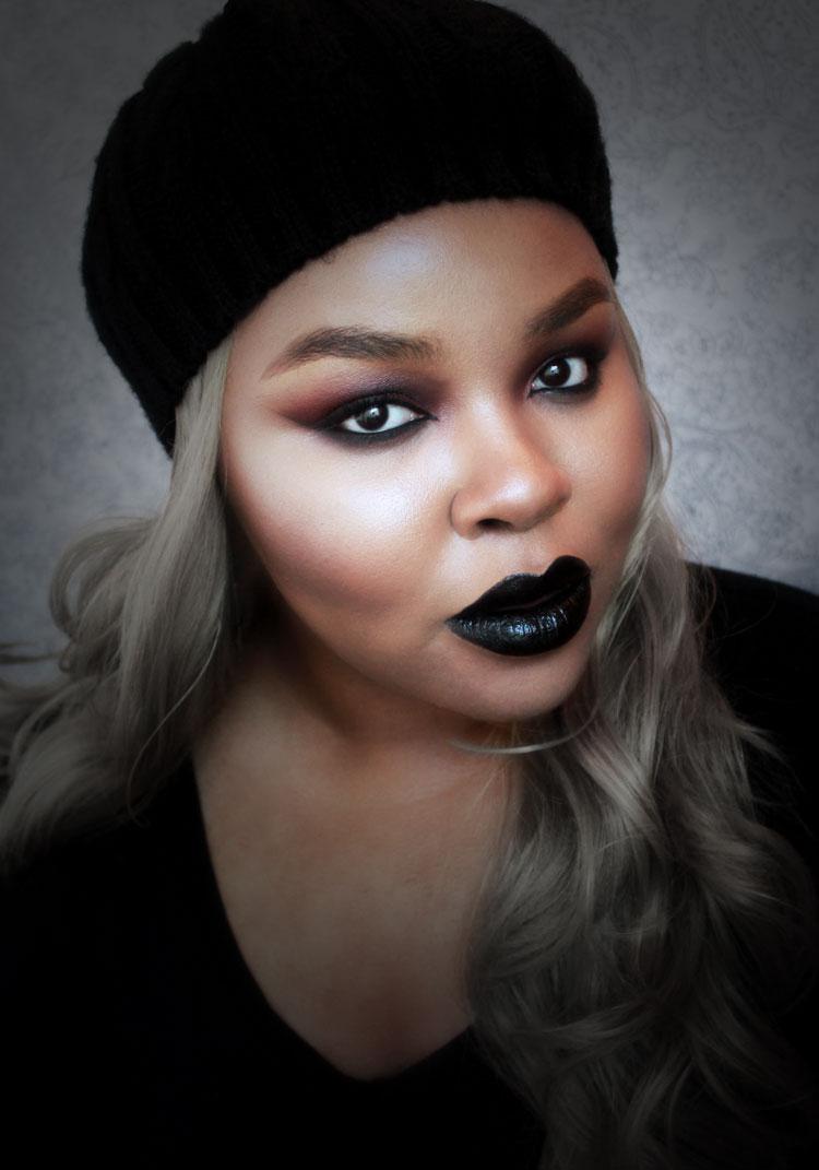 Gothic vampire Makeup, Black Lipstick