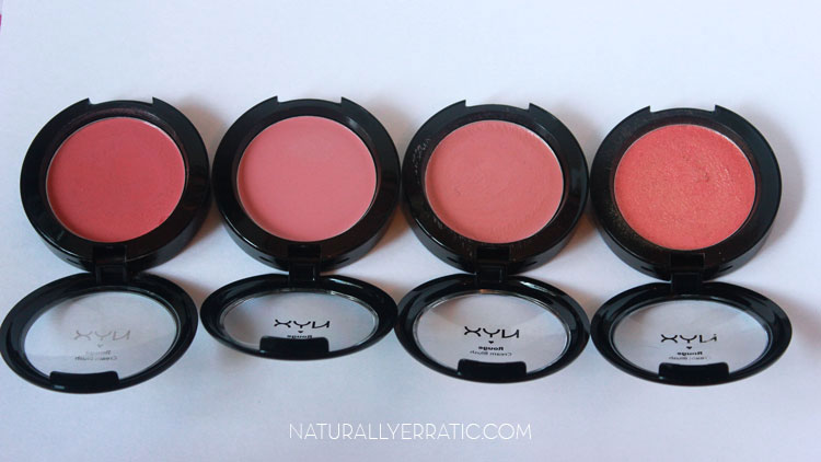 NYX CREAM BLUSH SWATCHES